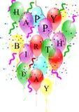 белизна дня рождения счастливая Стоковые Изображения