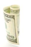 белизна доллара предпосылки Стоковое Изображение