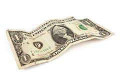 белизна доллара счета старая излишек стоковые фото