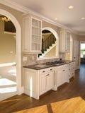 белизна домашней кухни роскошная модельная Стоковые Изображения RF