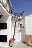 белизна дома испанская стоковое фото