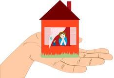 белизна дома руки Стоковое Изображение RF