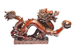 белизна дракона красная стоковое изображение