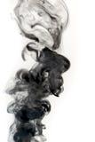 белизна дыма предпосылки реальная Стоковые Изображения RF