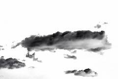 белизна дыма предпосылки черная абстрактные облака Стоковая Фотография RF