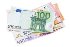 белизна евро кредиток предпосылки Стоковое Изображение RF