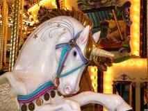 белизна единорога carousel Стоковые Изображения