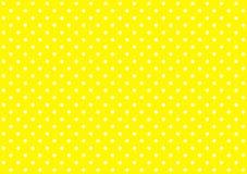 Белизна желтого цвета предпосылки точек польки Стоковое Изображение