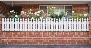 белизна загородки входа Стоковая Фотография