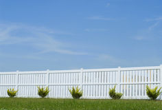 белизна загородки Стоковое Фото