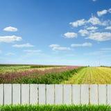 белизна загородки Стоковые Фото