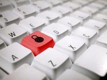 белизна замка клавиатуры комбинации Стоковое Фото