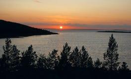 белизна захода солнца моря островов Стоковое фото RF