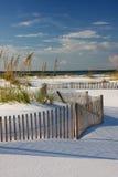 белизна захода солнца песка пляжа Стоковые Фотографии RF