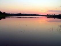 белизна захода солнца nord ночи Стоковое Изображение