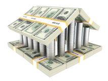 белизна здания изолированная долларом Стоковое Изображение RF