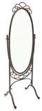 белизна зеркала богато украшенный излишек стоящая Стоковая Фотография