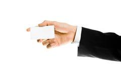 белизна знака руки визитной карточки Стоковое Фото