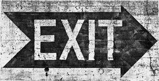 белизна знака черного grunge выхода большая Стоковая Фотография RF