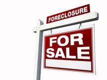 белизна знака foreclosure имущества реальная красная Стоковые Изображения RF