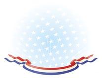 белизна знамен голубая патриотическая красная Стоковое Изображение RF