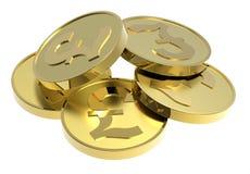 белизна золота монеток предпосылки изолированная иллюстрация штока
