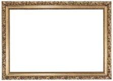 белизна золота рамки предпосылки Стоковые Фотографии RF