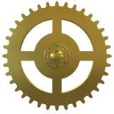 белизна золота шестерни часов предпосылки Стоковое Изображение