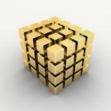 белизна золота s коробки блока Стоковые Изображения RF