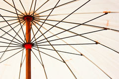 белизна зонтика Стоковое Изображение RF