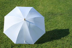 белизна зонтика Стоковое фото RF