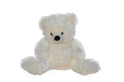 белизна игрушечного медведя Стоковое Изображение
