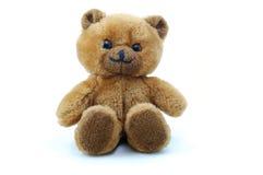 белизна игрушечного предпосылки изолированная медведем стоковая фотография