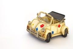 белизна игрушки автомобиля Стоковые Изображения RF