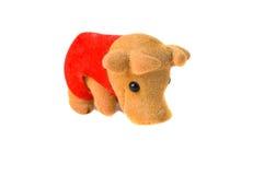 белизна игрушки коровы смешная изолированная Стоковое Фото