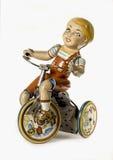 белизна игрушки мальчика предпосылки Стоковое фото RF