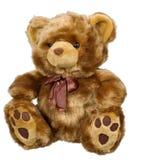 белизна игрушки медведя предпосылки Стоковое Изображение