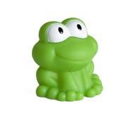 белизна игрушки предпосылки изолированная лягушкой резиновая Стоковое Изображение RF