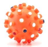 белизна игрушки шарика предпосылки изолированная собакой Стоковая Фотография RF