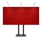 белизна изолированная афишей красная Стоковая Фотография RF