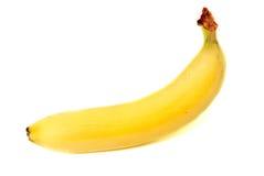 белизна изолированная бананом Стоковое Изображение