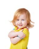 белизна изолированная девушкой Стоковое фото RF
