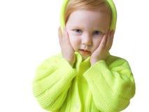 белизна изолированная девушкой Стоковая Фотография RF