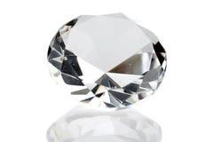 белизна изолированная диамантом Стоковое Изображение