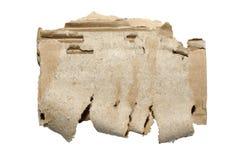 белизна изолированная картоном Стоковое Изображение