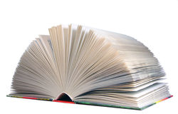 белизна изолированная книгой открытая Стоковое Фото
