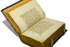 белизна изолированная книгой старая раскрытая Стоковое Изображение
