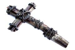 белизна изолированная крестом Стоковые Изображения