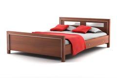 белизна изолированная кроватью Стоковое Изображение RF