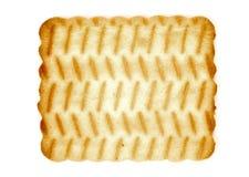 белизна изолированная печеньем Стоковые Изображения RF